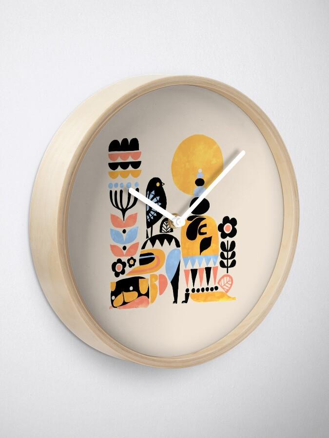 Alternate view of Scandinavian Pug Yoga Clock