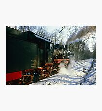 Steam train in forest, Germany, 1985 Photographic Print