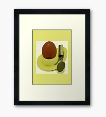 Egg & Spoon Framed Print
