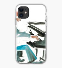 Pianist Musician Expressive Drawing iPhone Case