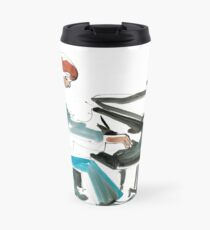 Pianist Musician Expressive Drawing Travel Mug