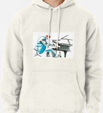 Pianist Musician Expressive Drawing Pullover Hoodie