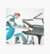Pianist Musician Expressive Drawing Scarf