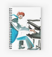 Pianist Musician Expressive Drawing Spiral Notebook