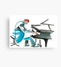 Pianist Musician Expressive Drawing Canvas Print
