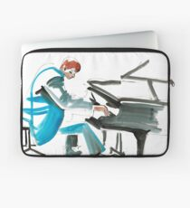 Pianist Musician Expressive Drawing Laptop Sleeve