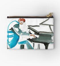 Pianist Musician Expressive Drawing Zipper Pouch