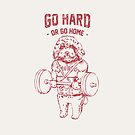 Go Hard or Go Home Poodle by Huebucket