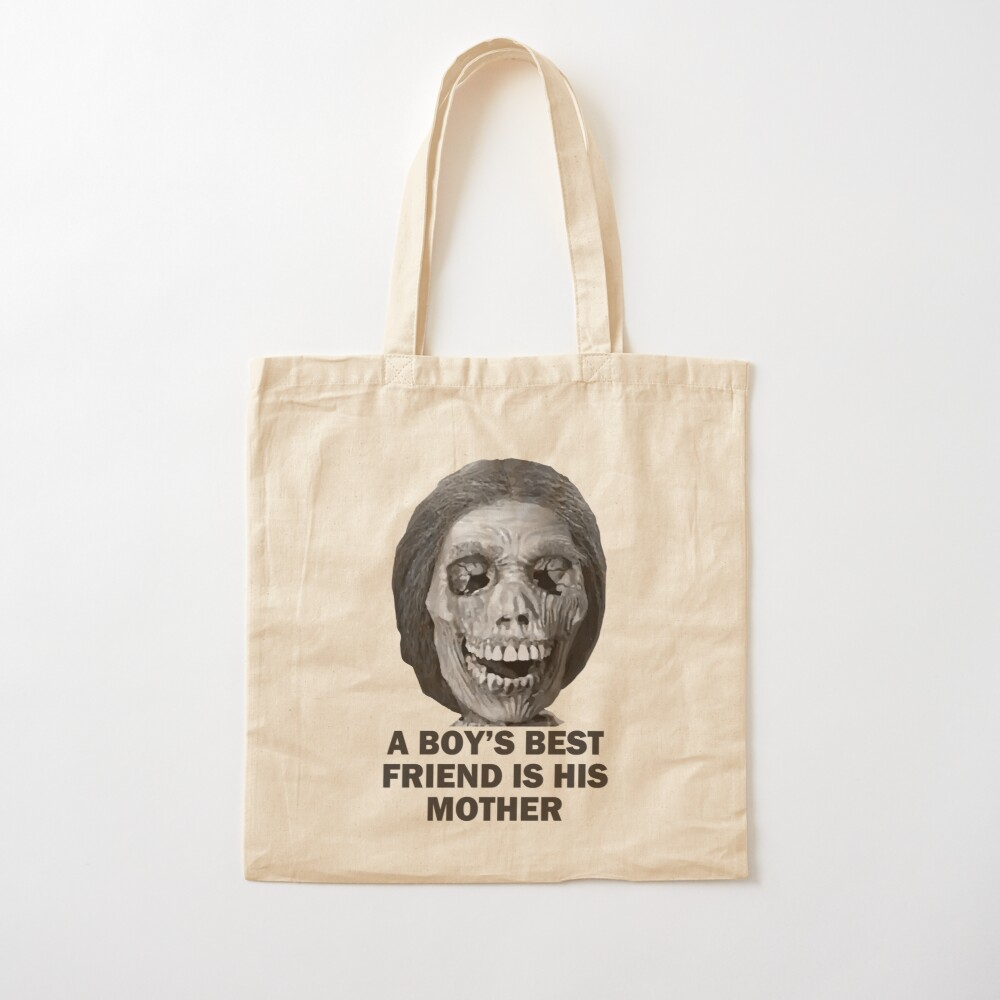 Psycho Mother Movie Quote Cotton Tote Bag