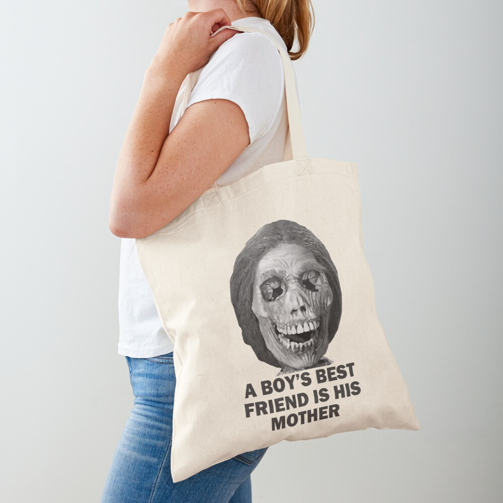 Psycho Mother Movie Quote Tote Bag