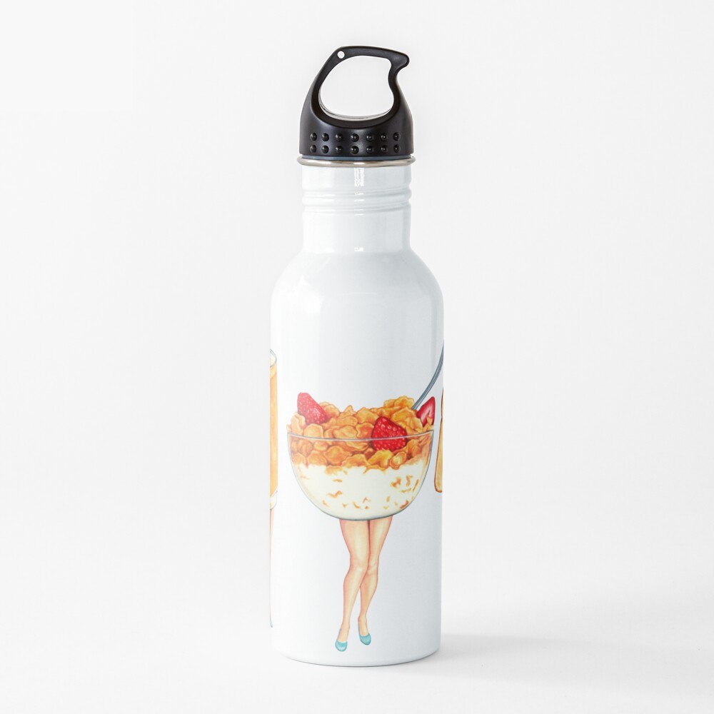 Breakfast Pin-Ups Water Bottle
