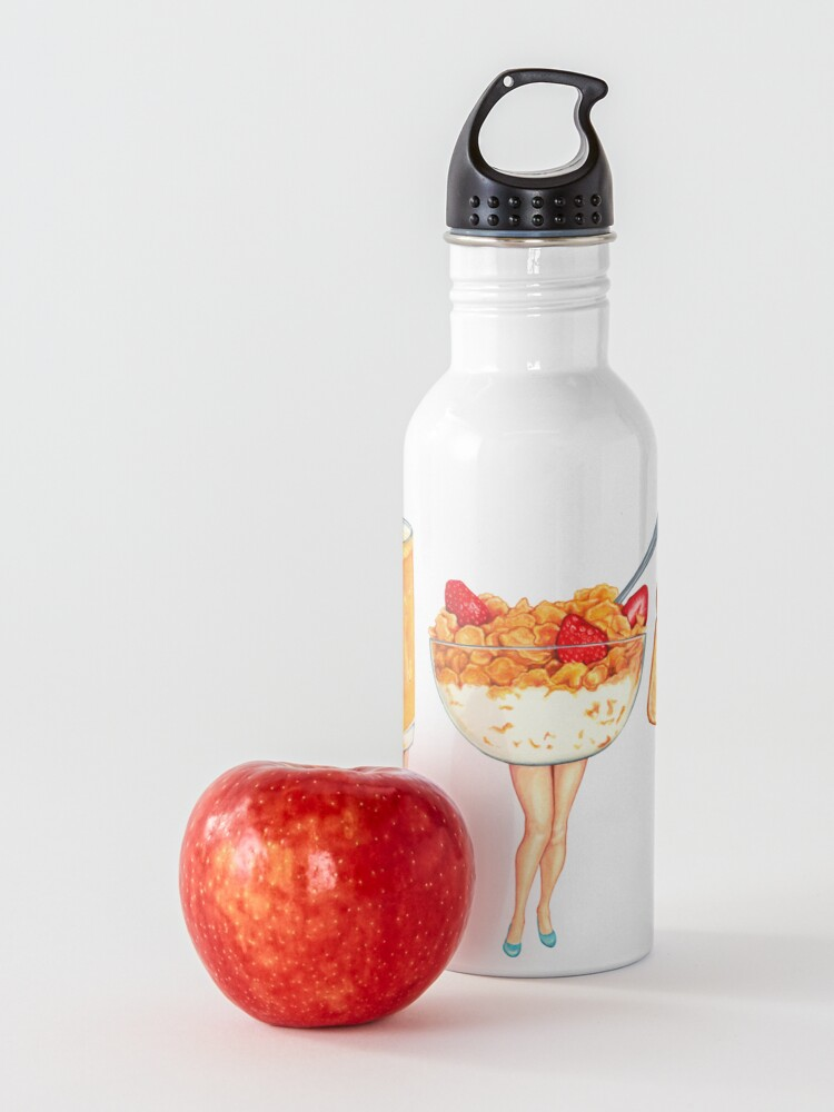 Alternate view of Breakfast Pin-Ups Water Bottle