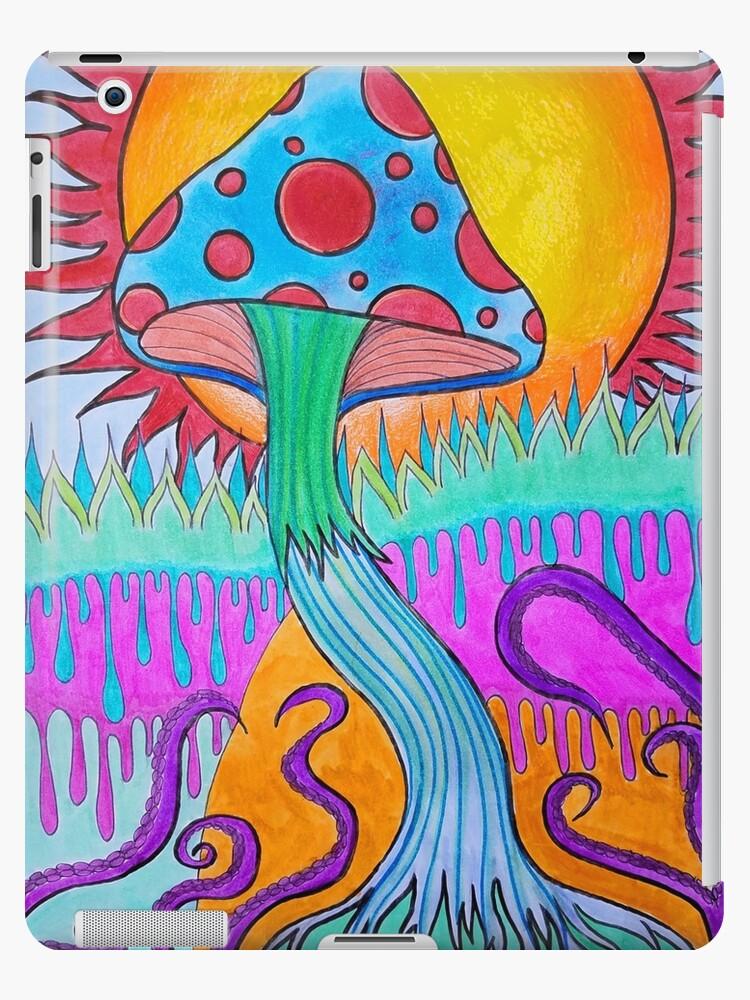 Trippy Psychedelic Mushroom Ipad Caseskin By Artbymeganbrock