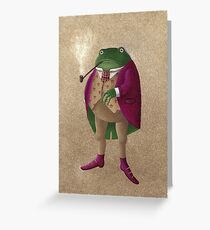 Herr Frosch Greeting Card