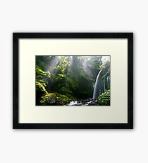 Water & Rays Framed Print