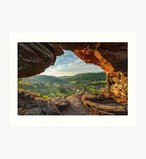 Obersteinbach vue à traver l'arche du Wachtfels Impression artistique
