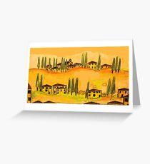 tuscany houses.... Greeting Card