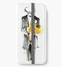 Saxophonist Musician Drawing iPhone Wallet/Case/Skin
