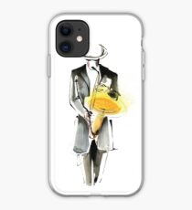 Saxophonist Musician Drawing iPhone Case