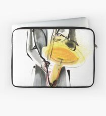 Saxophonist Musician Drawing Laptop Sleeve