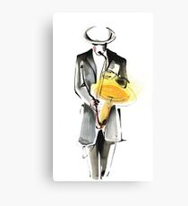 Saxophonist Musician Drawing Canvas Print