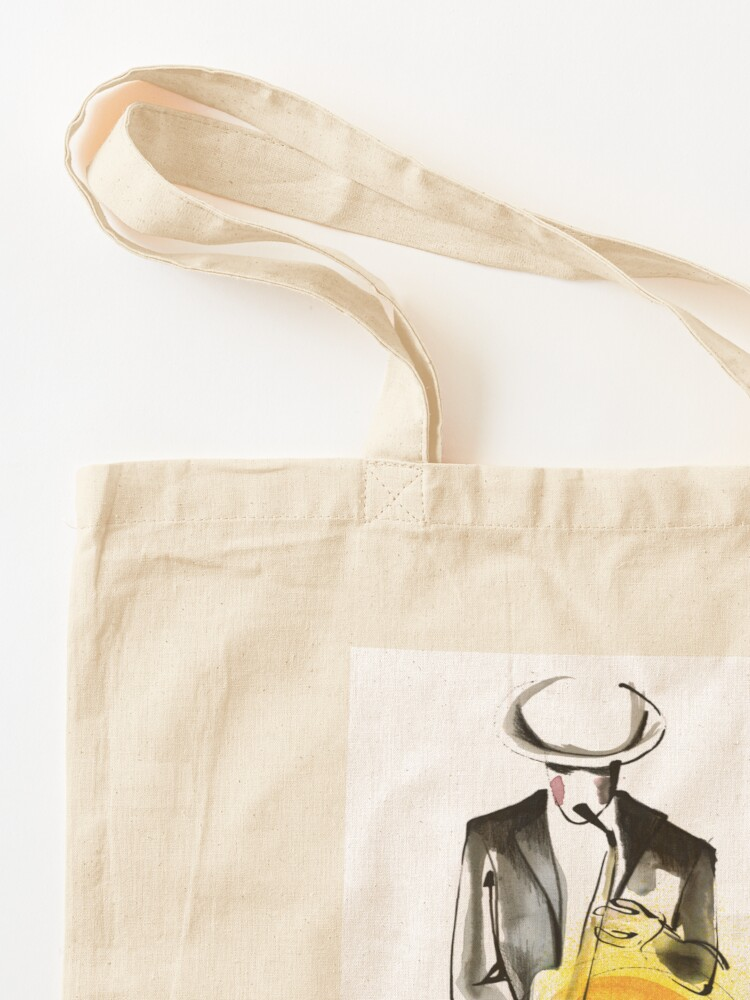 Alternate view of Saxophonist Musician Drawing Tote Bag