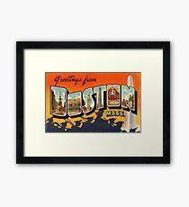 Boston Vintage Travel Postcard Restored Framed Print