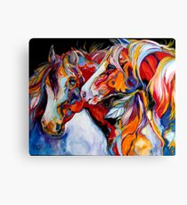 TWO SPIRITS EQUINE SOUTHWEST ORIGINAL by MARCIA BALDWIN Canvas Print