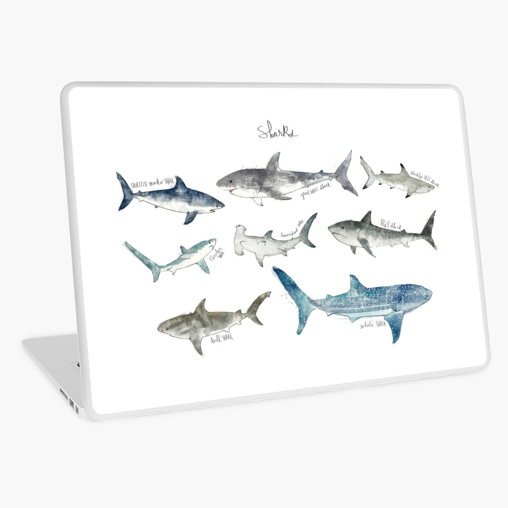 Sharks Laptop Skin