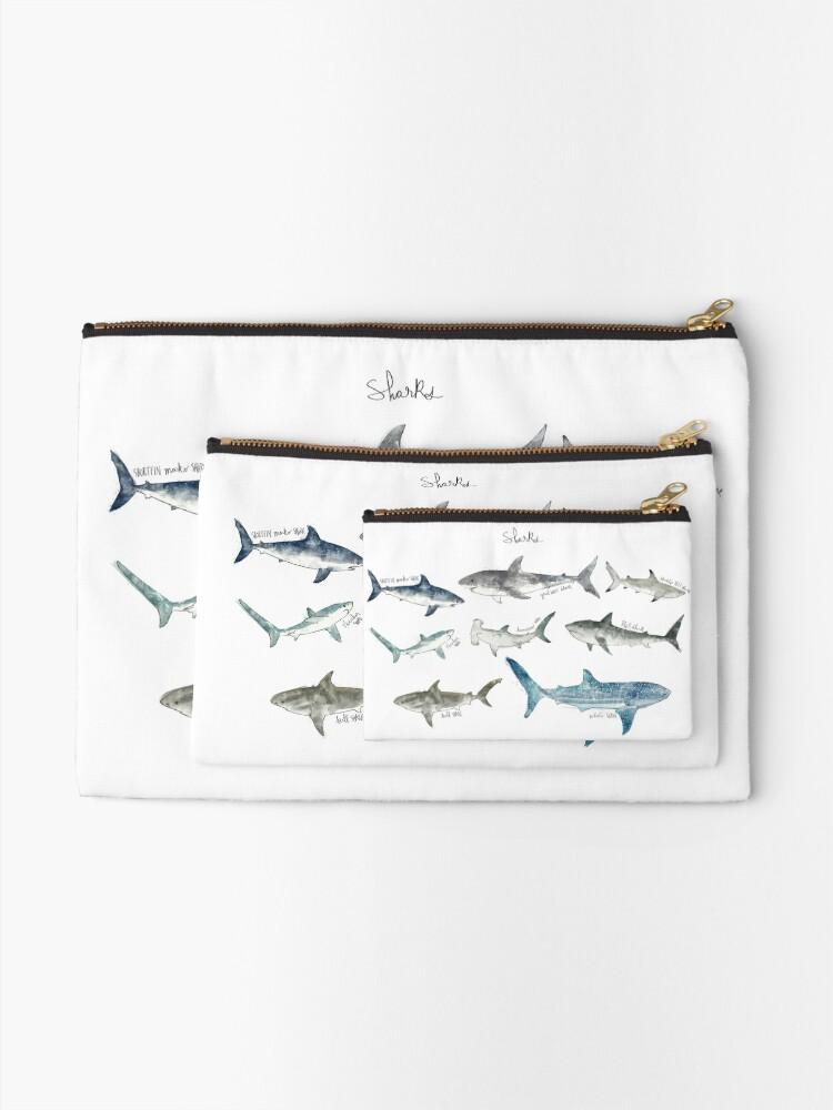 Alternate view of Sharks Zipper Pouch