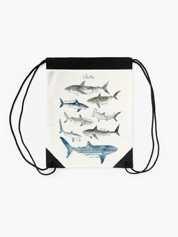 Alternate view of Sharks Drawstring Bag