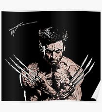 Watercolour Wolverine Poster