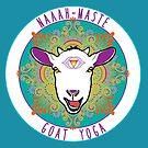 Goat Yoga design, round by Cynthia Blair