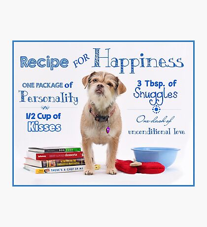 Recipe for Happiness Photographic Print