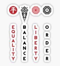 Korra's Antagonists - Legend of Korra (Red / Black Lettering) Sticker