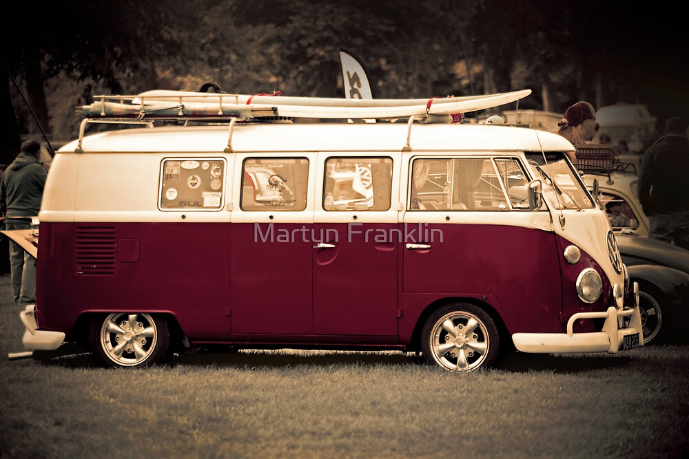Camper van surfs up old skool  by Martyn Franklin