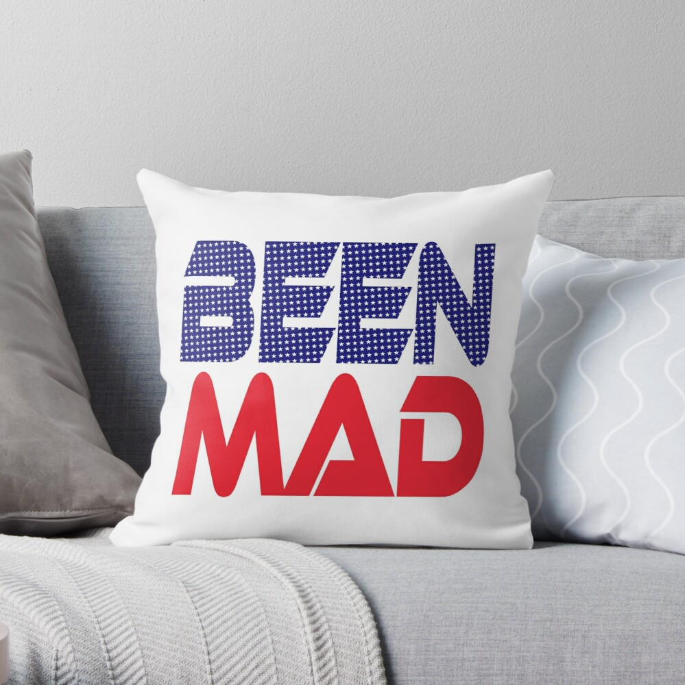#OurPatriotism: Been Mad (Red, White, Blue) by Onjena Yo Throw Pillow