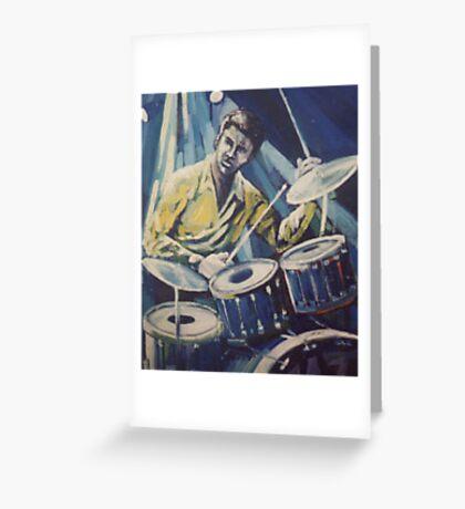 Jazz Drummer Greeting Card