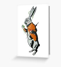 Wonderland Hare - Late for the tea party. Greeting Card