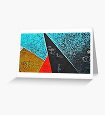 BERLIN WALL GEOMETRIC MURAL Greeting Card