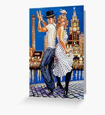 "Dancin"" at the Dock Greeting Card"