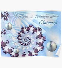 White Christmas Card Poster