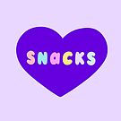 Snacks Retro Lettering in Lilac by evannave
