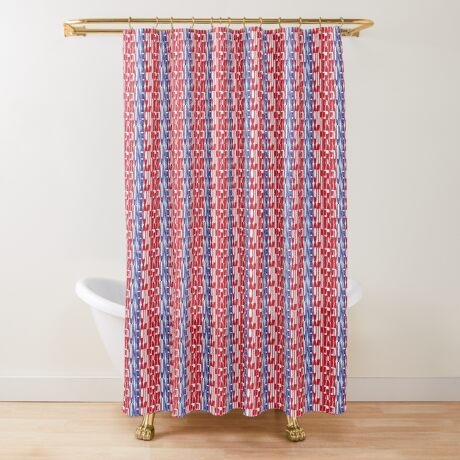 #OurPatriotism: UnbOthered (Red, White, Blue) by Onjena Yo Shower Curtain