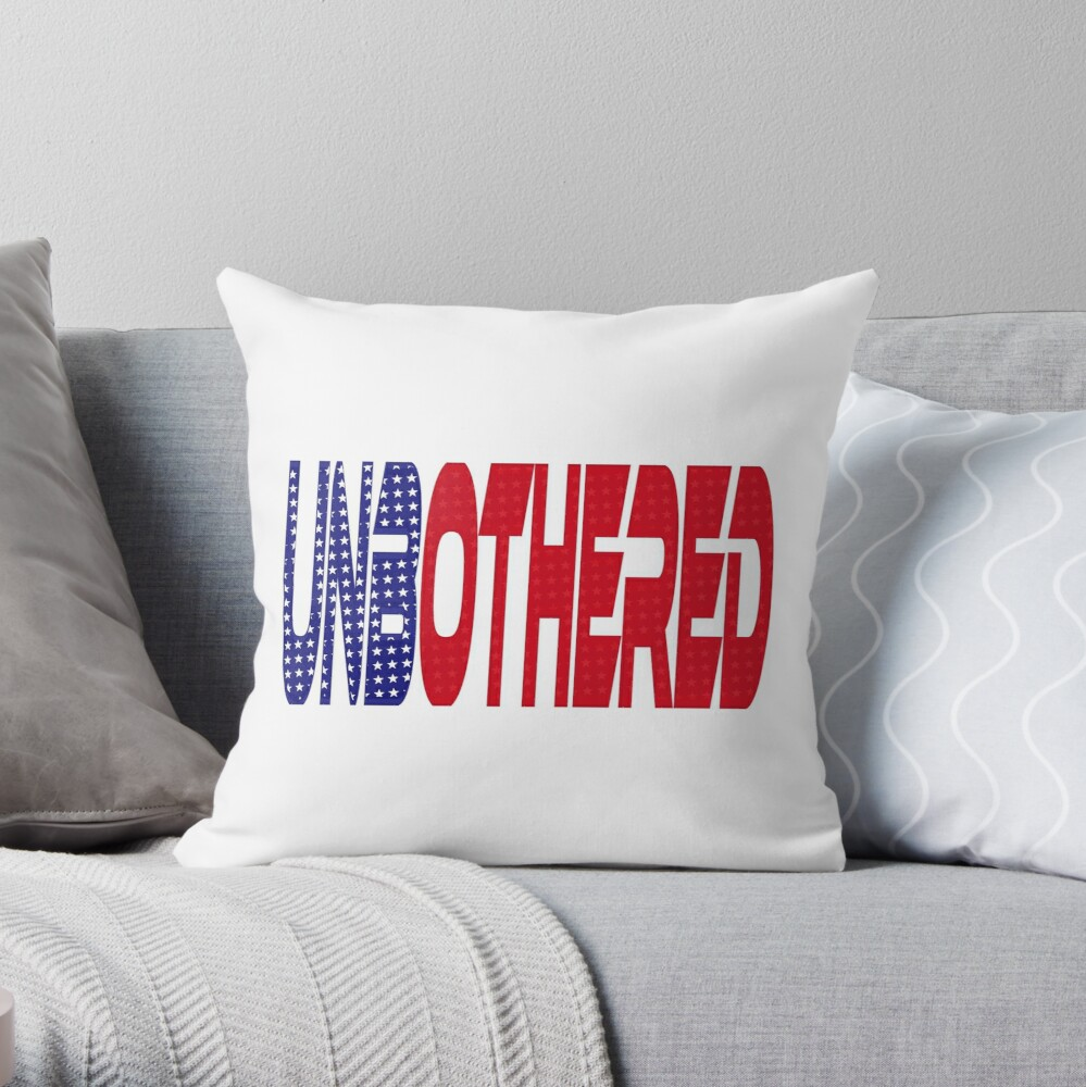 #OurPatriotism: UnbOthered (Red, White, Blue) by Onjena Yo Throw Pillow