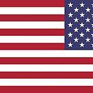United States Forward Flying Flag by boxsmash