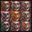 Day Of The Dead 3 (black tee) by Devalyn Marshall