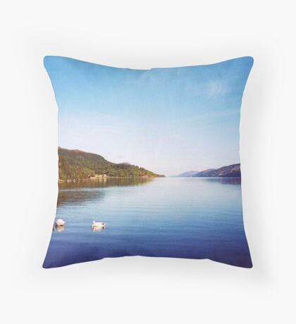 Clearly Autumn ~Entering Loch Ness; Leaving Fort Augustus Throw Pillow