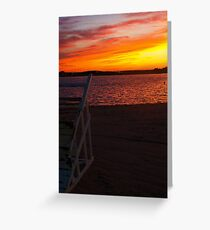 Ortley Sunset Greeting Card