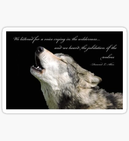 The Jubilation Of The Wolves (V2) Sticker
